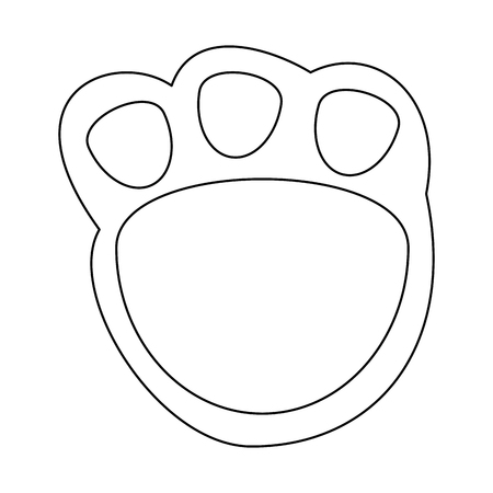 Cute footprint teddy icon. Vector illustration design.