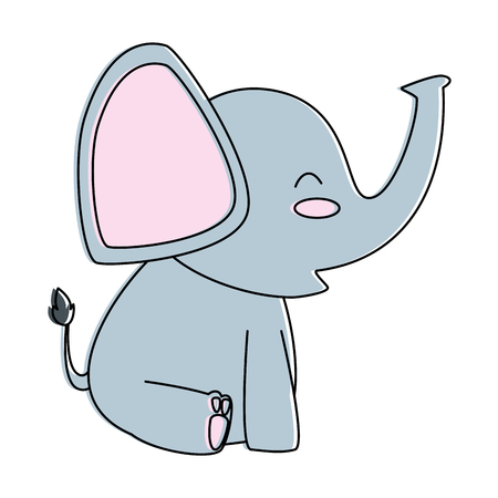 cute little elephant icon vector illustration design
