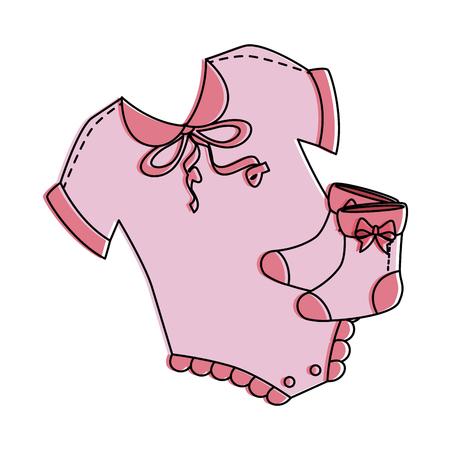 Robe de bébé mignon avec des chaussettes