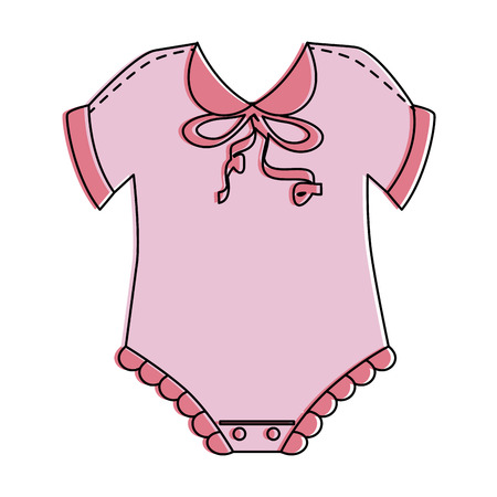 cute baby dress icon vector illustration design