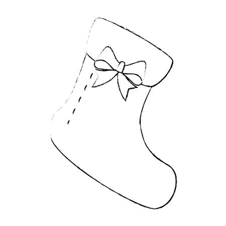 Cute baby sock icon. Vector illustration design.