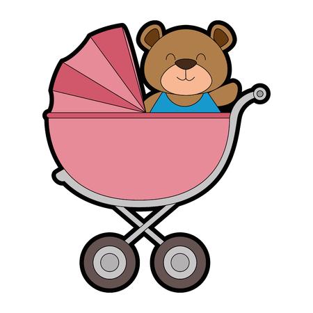 ours mignon ours dans le bébé bébé. conception de vecteur illustration Vecteurs