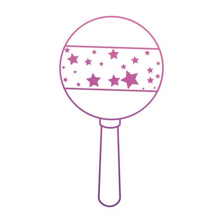 Schattige baby jingle bell. Vector illustratie ontwerp.