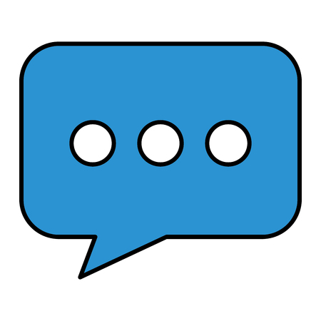 speech bubble message icon vector illustration design Ilustração