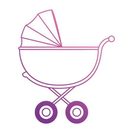 cute baby cart icon vector illustration design