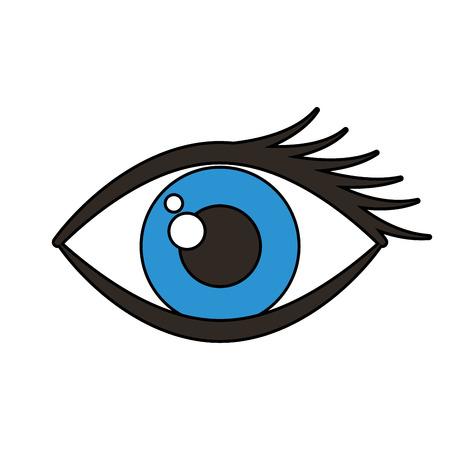 human eye isolated icon vector illustration design
