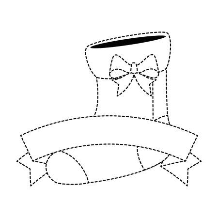 chaussettes de bébé mignons avec ruban conception illustration vectorielle Vecteurs