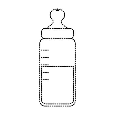 baby bottle milk icon vector illustration design Illustration