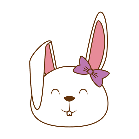 cute little rabbit icon vector illustration design Illustration