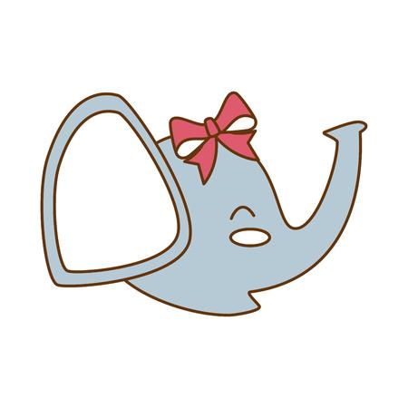 Cute little elephant icon illustration design Illustration