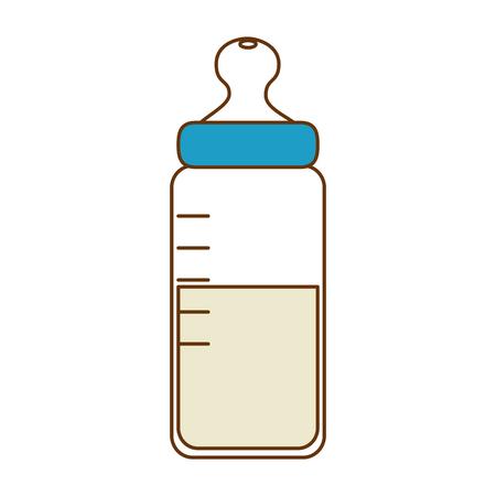 baby bottle milk icon vector illustration design Ilustração