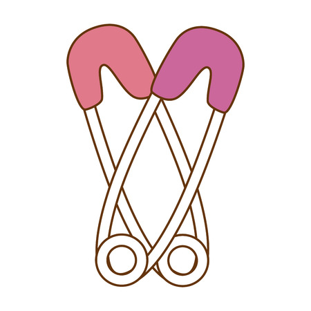 Baby Kleidung Haken Symbol Vektor-Illustration Design Standard-Bild - 93260378