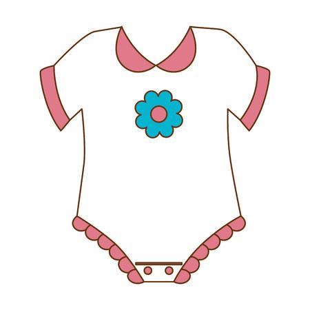 schattige baby jurk pictogram vector illustratie ontwerp Stock Illustratie