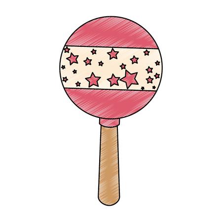 cute baby jingle bell vector illustration design