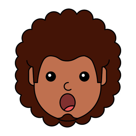 Ein überraschter junger Mann avatar Charakter Vektor-Illustration Design Standard-Bild - 93256044