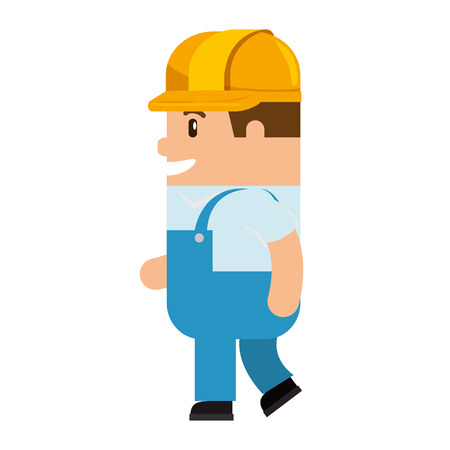 A funny builder avatar character vector illustration design