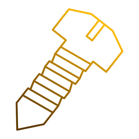 A steel screw tool object for repair icon vector illustration Vectores