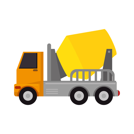 A truck mixer for concrete icon vector illustration design