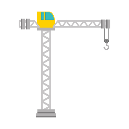 Crane construction tower icon vector illustration design