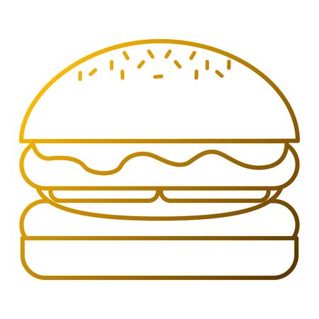 ハンバーガーアイコン  イラスト・ベクター素材