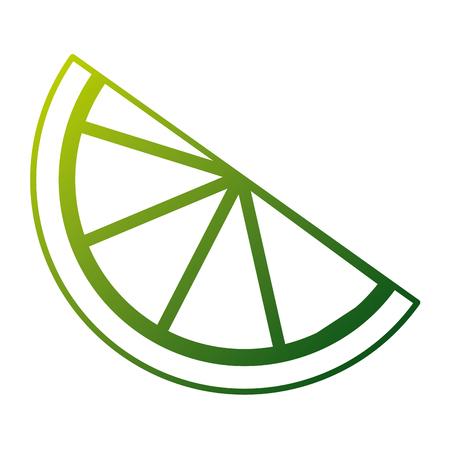 Slice lemon citrus fruit fresh image vector illustration