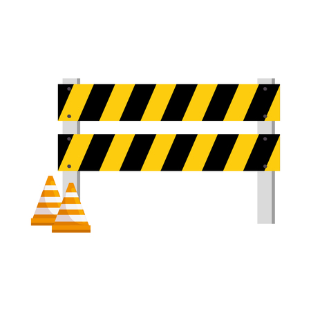 Construction fence with cone icon