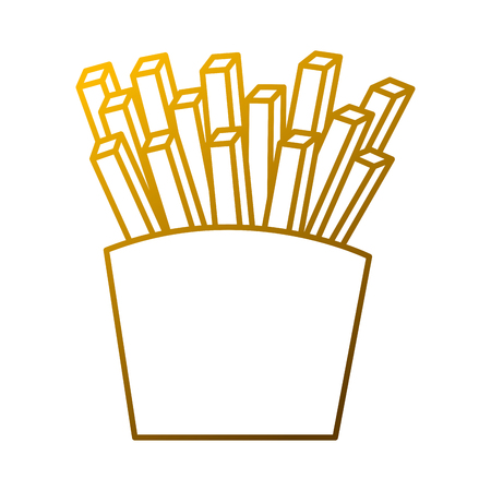 French fries, fast food box icon vector illustration. 向量圖像