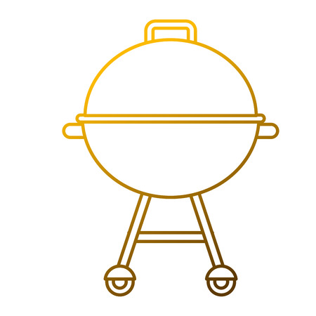 Grill equipment wheel steel icon vector illustration.