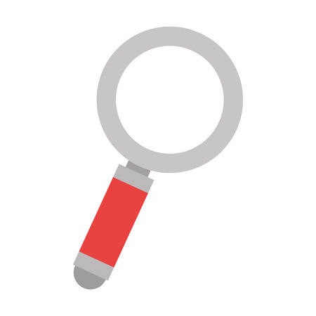 Search magnifying glass icon vector illustration design.