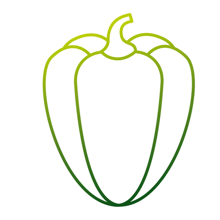 A pepper vegetable fresh food diet vector illustration Illustration