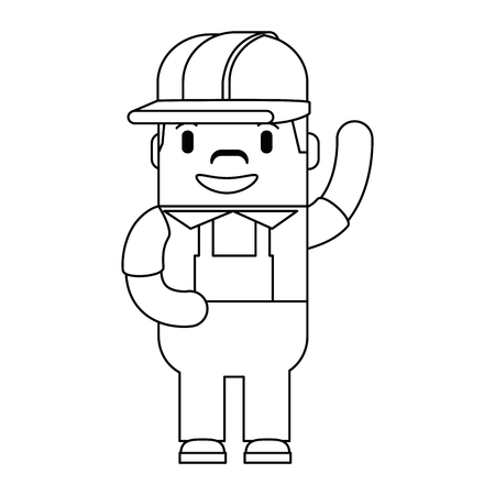 A funny builder avatar character vector illustration design
