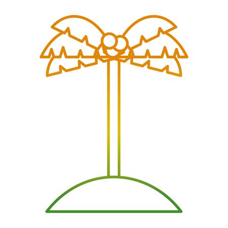 Palmkokosnoot in het pictogram vectorillustratie van het zandeiland Stockfoto - 93279913