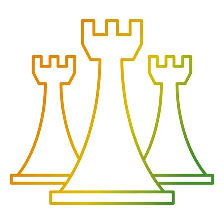 체스 루크 조각 게임 전략 기호 벡터 일러스트 레이션