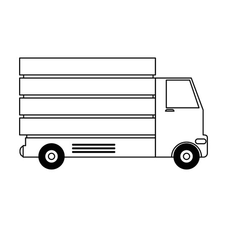 A delivery truck isolated icon vector illustration design