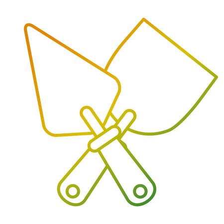 A tools crossed spatula construction icon vector illustration