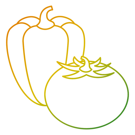 Tomato and pepper icon Illustration