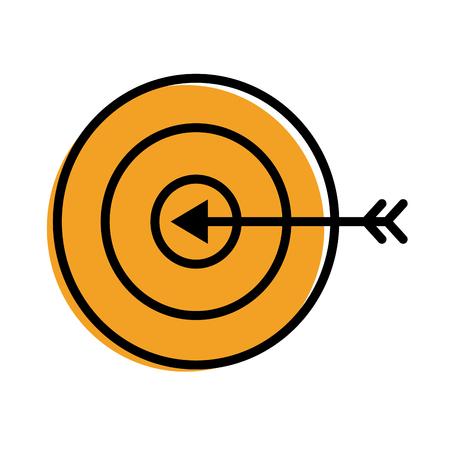 Target and arrow icon Stok Fotoğraf - 93257888