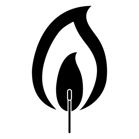 Fire flame icon Illustration