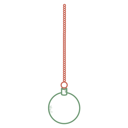 Christmas ball hanging icon