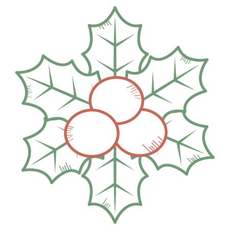Christmas leaves decorative