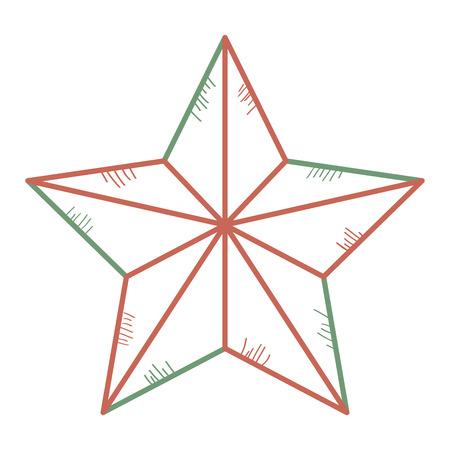 Weihnachtsstern dekorative Symbol Vektor-Illustration , Design , Standard-Bild - 93258320