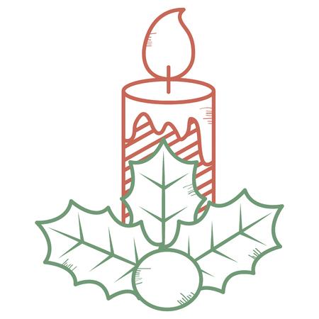 Christmas candles decorative icon vector illustration design Foto de archivo - 93258410