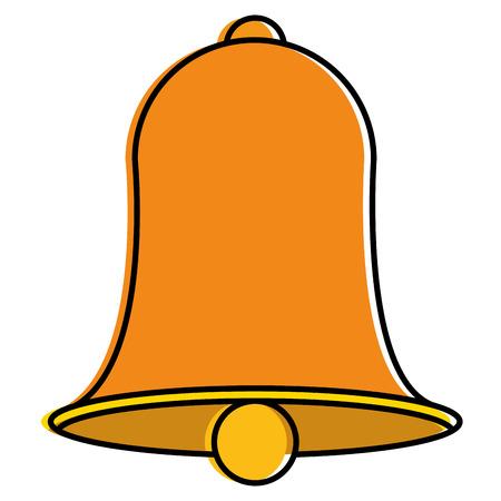 Christmas bell decorative icon vector illustration design