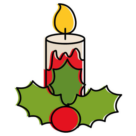 christmas candles decorative icon vector illustration design Foto de archivo - 93258788