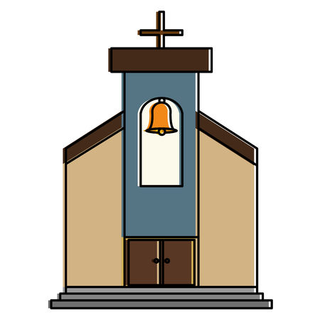 church building isolated icon vector illustration design Banco de Imagens - 93258785