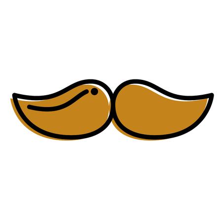 mustache hipster fashion vintage image vector illustration Çizim