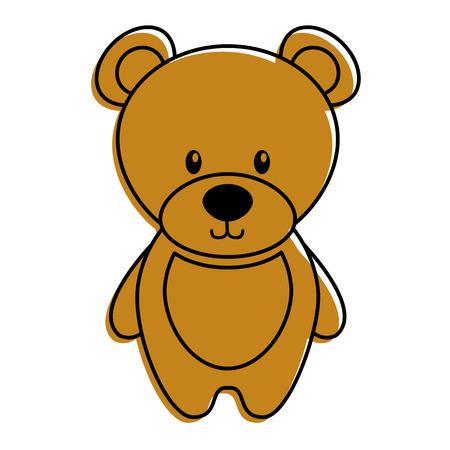 Cute teddy bear toy adorable icon vector illustration.