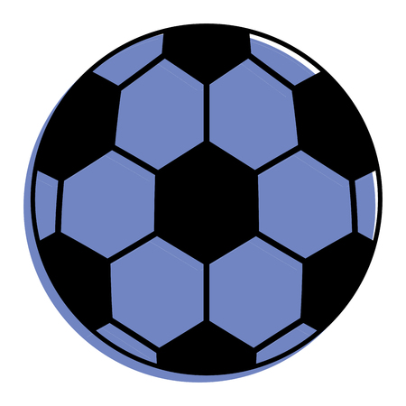 soccer ball sport toy icon vector illustration