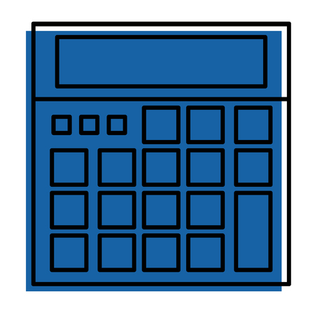 calculator device maths count icon vector illustration Ilustrace