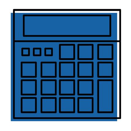 rekenmachine apparaat wiskunde tellen pictogram vector illustratie Stock Illustratie